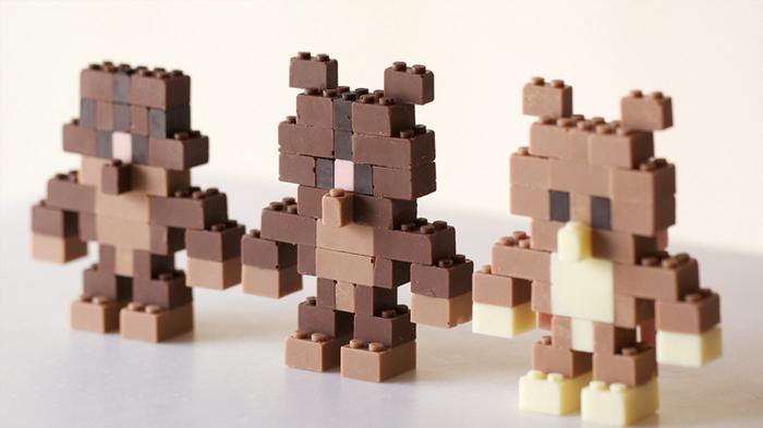 The Japanese designer who made edible chocolate Lego bricks